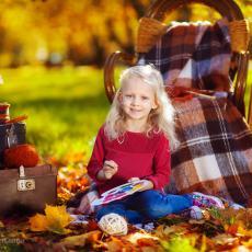 Осенние фотосессии. Декорированный Осенний фотопроект.